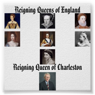 Elizabeth I, Elizabeth II, señora Jane Grey, Maria Posters
