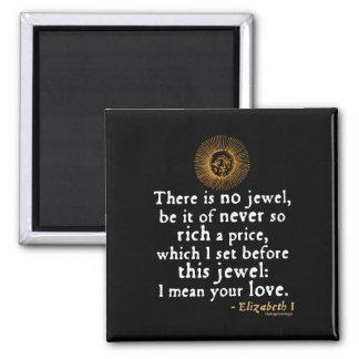 Elizabeth I Golden Speech Quote Refrigerator Magnet