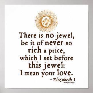 "Elizabeth I ""Golden Speech"" Quote Poster"