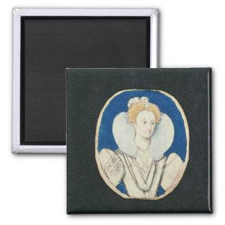 Elizabeth I miniature portrait unfinished Magnet