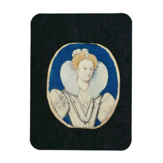 Elizabeth I miniature portrait unfinished Magnets