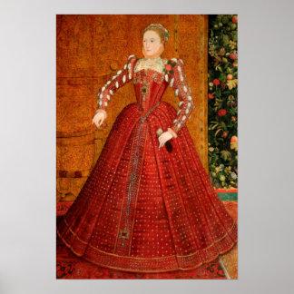 """Elizabeth I of England (The """"Hampden Portrait"""") Poster"""