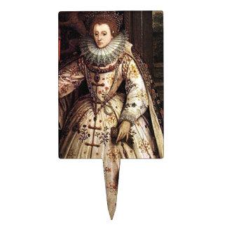 Elizabeth I Peace Portrait Cake Toppers
