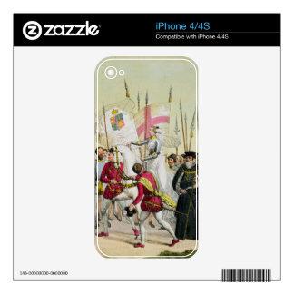 Elizabeth I, platea 12 'de la historia del naciona Calcomanía Para El iPhone 4