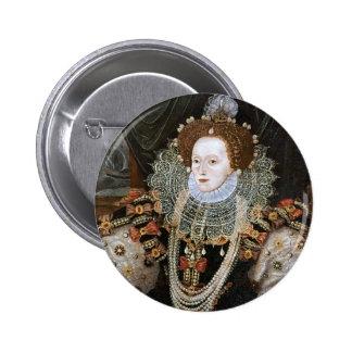 Elizabeth I Portrait 2 Inch Round Button