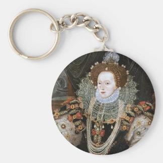 Elizabeth I Portrait Basic Round Button Keychain