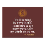 Elizabeth I Quote about Judgement Post Card