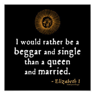 Elizabeth I Quote about Marriage Poster