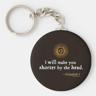 Elizabeth I Quote on Beheading Key Chain