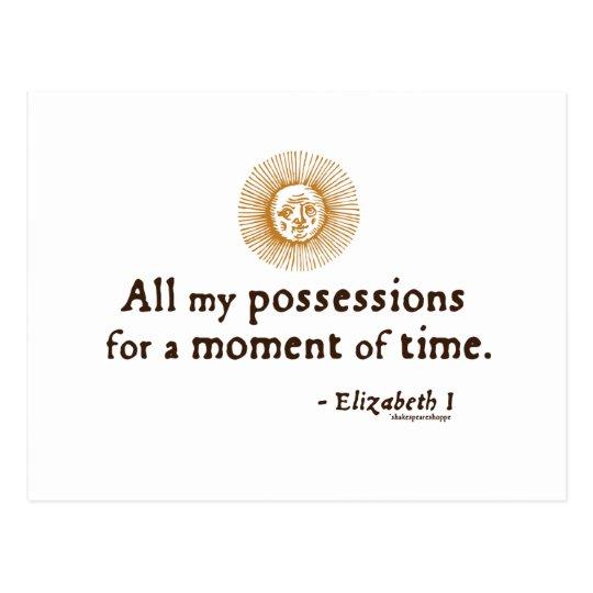 Elizabeth I Quote on Time Postcard