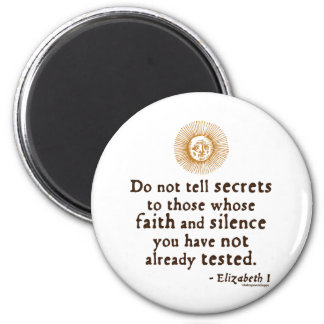 Elizabeth I Quote on Trust Fridge Magnets