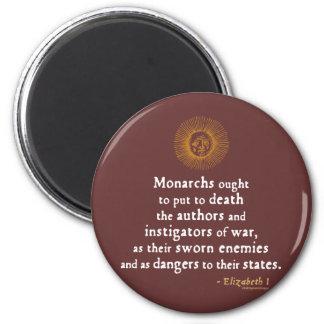 Elizabeth I Quote on War Refrigerator Magnet
