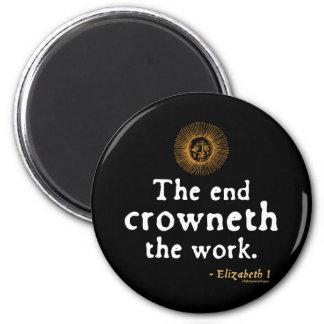 Elizabeth I Quote on Work Fridge Magnets