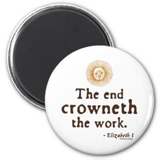 Elizabeth I Quote on Work Magnet
