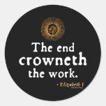 Elizabeth I Quote on Work Stickers
