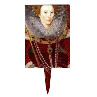 Elizabeth I Red Robes Cake Topper