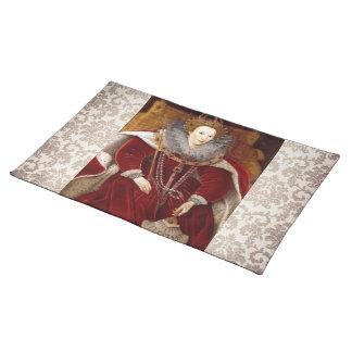 Elizabeth I Red Robes Cloth Place Mat