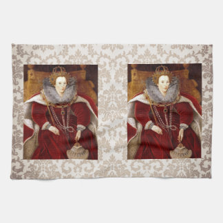 Elizabeth I Red Robes Kitchen Towels