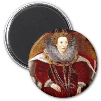 Elizabeth I Red Robes Magnet