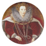 Elizabeth I Red Robes Party Plate