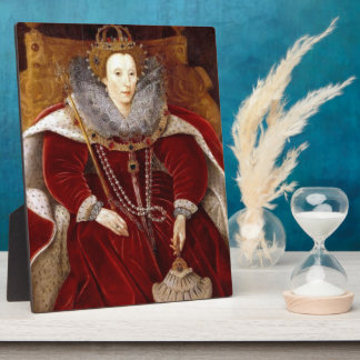 Elizabeth I Red Robes Photo Plaque