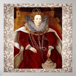 Elizabeth I Red Robes Poster