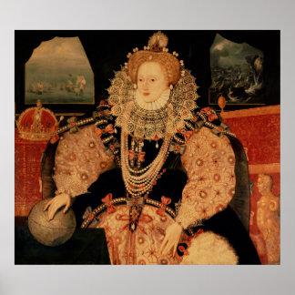 Elizabeth I, retrato de la armada, c.1588 Poster