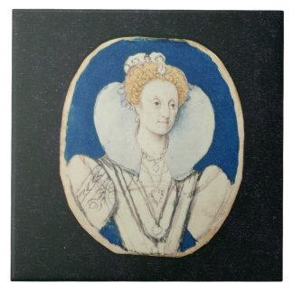 Elizabeth I, retrato miniatura, (inacabado) Azulejo