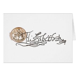 Elizabeth I Signature Version 2 Cards