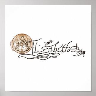 Elizabeth I Signature (Version 2) Print