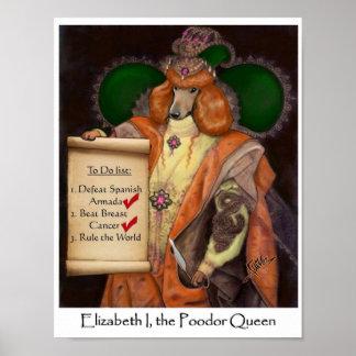 Elizabeth I, the Poodor Queen Small Canvas Print