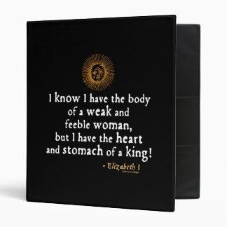 Elizabeth I Tilbury Quote Binder