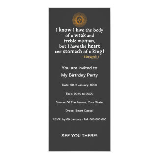 Elizabeth I Tilbury Quote Card