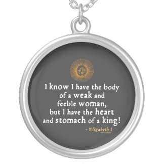 Elizabeth I Tilbury Quote Custom Necklace