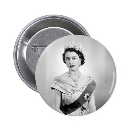 Elizabeth II queen of England Pin