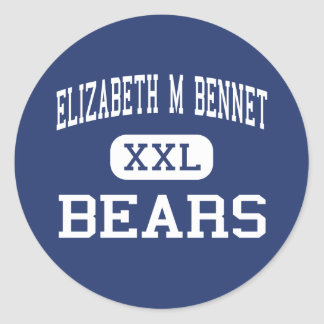 Elizabeth M Bennet Bears Middle Manchester Round Stickers