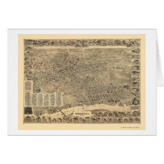 Elizabeth, mapa panorámico de NJ - 1898 Tarjeton