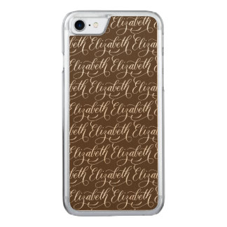 Elizabeth - Modern Calligraphy Name Design Carved iPhone 7 Case