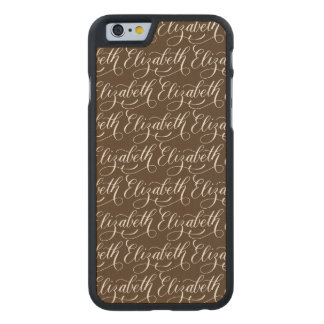 Elizabeth - Modern Calligraphy Name Design Carved® Maple iPhone 6 Slim Case