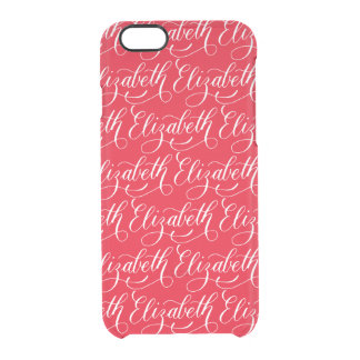 Elizabeth - Modern Calligraphy Name Design Clear iPhone 6/6S Case