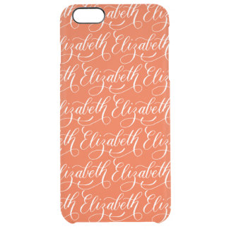Elizabeth - Modern Calligraphy Name Design Clear iPhone 6 Plus Case