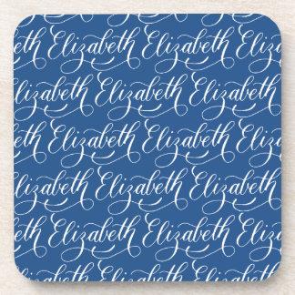 Elizabeth - Modern Calligraphy Name Design Drink Coaster