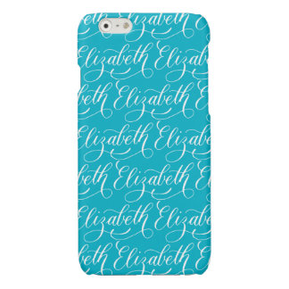 Elizabeth - Modern Calligraphy Name Design Glossy iPhone 6 Case
