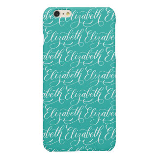 Elizabeth - Modern Calligraphy Name Design Glossy iPhone 6 Plus Case