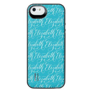 Elizabeth - Modern Calligraphy Name Design iPhone SE/5/5s Battery Case