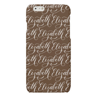 Elizabeth - Modern Calligraphy Name Design Matte iPhone 6 Case