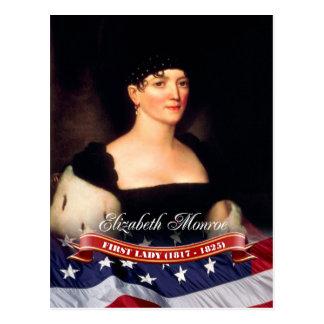 Elizabeth Monroe, primera señora de los E.E.U.U. Tarjeta Postal
