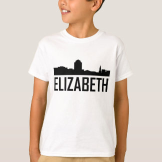 Elizabeth New Jersey City Skyline T-Shirt