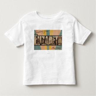 Elizabeth, New Jersey - Large Letter Scenes Toddler T-shirt