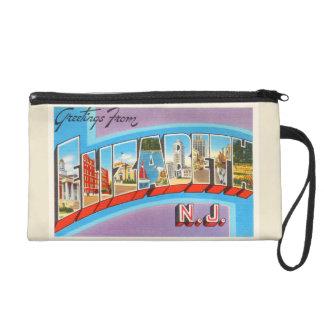 Elizabeth New Jersey NJ Vintage Travel Postcard- Wristlet
